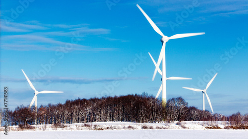 canvas print picture Wind Energy Plant