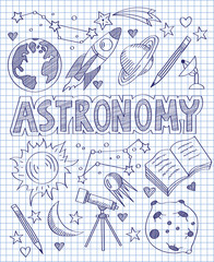 Hand drawn Astronomy set