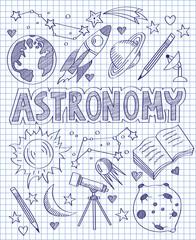 Hand drawn Astronomy set