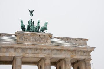 The Brandenburg Gate with snow in Berlin