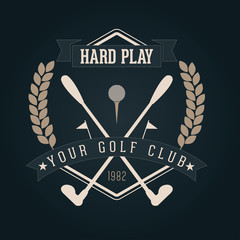 Hand crafted golf lettering for label and packaging