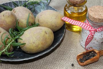 Zutaten für Rosmarinkartoffeln
