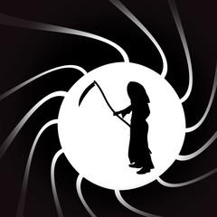 Vector illustration of Grim Reaper.