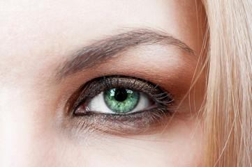 Female's green eye