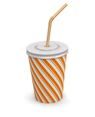 Disposable cup (clipping path included)