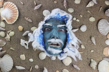 angry deep blue sea man