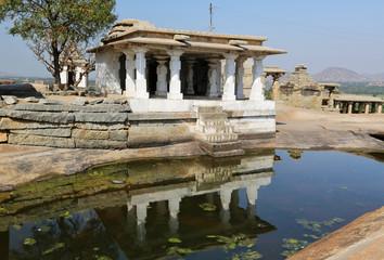 Virupaksha temple at blue sky in Hampi, Karnataka