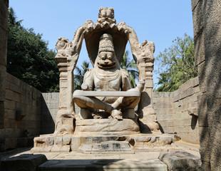 Narasinha (avatar of vishnu) statue in Hampi