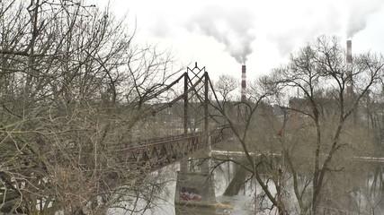 Vilnius. Old Bridge over the Neris River. Time Lapse_4.mov