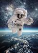 Leinwanddruck Bild - Astronaut in outer space
