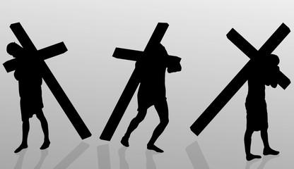 Vector illustration of Jesus.