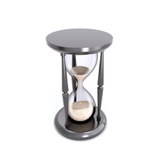 Retro hourglass counting down the time.