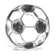Vector Single Sketch Football Ball