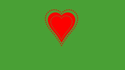 Valentine Day heart on green screen