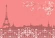 spring Paris background - 77148385