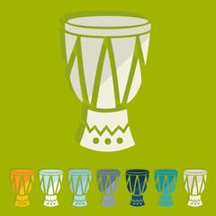 Flat design: drum