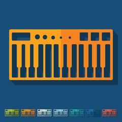 Flat design: synthesizer