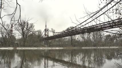 Vilnius. Old Bridge over the Neris River. Time Lapse.mov