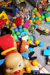 mess made of toys in a children's room
