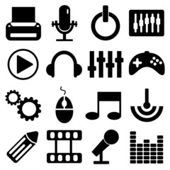 Technology icons set great for any use. Vector EPS10.