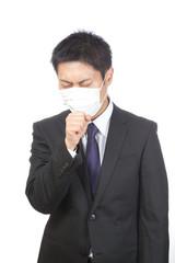 マスク/男性ビジネスマン