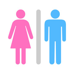A Man and a Lady Toilet icon great for any use. Vector EPS10.