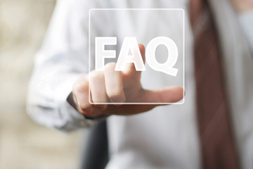 Business button FAQ sign icon web communication