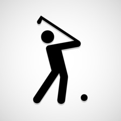 Golf players icon great for any use. Vector EPS10.