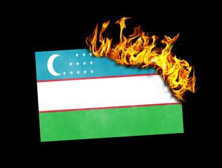Flag burning - Uzbekistan