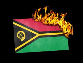 Flag burning - Vanuatu
