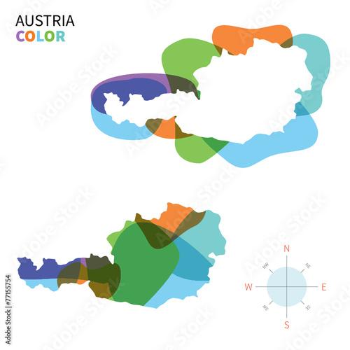 Foto op Aluminium Vormen Abstract vector color map of Austria