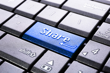 Share button on the computer keyboard
