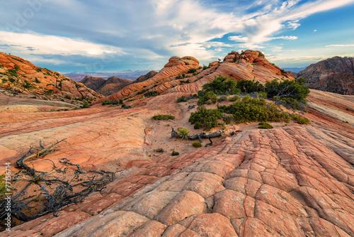 Leinwandbild Motiv Plateau Yant Flat - Candy Cliffs, Utah