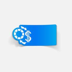 realistic design element: exchange chips