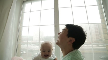 family and small child slowmotion