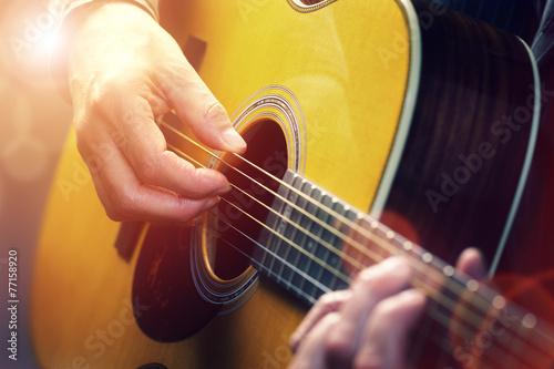 Fotobehang Muziekwinkel Guitarist