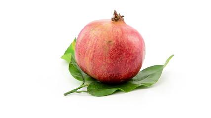 pomegranate rotating on white background