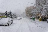 Fototapety Snow calamity in Bratislava Slovakia