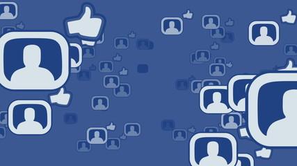 Social network loop media concept