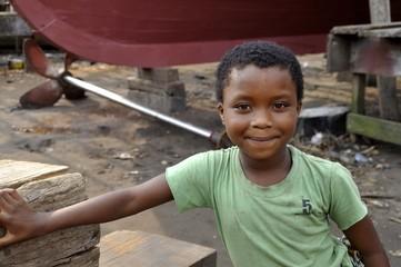 Lächelndes, afrikanisches  Mädchen