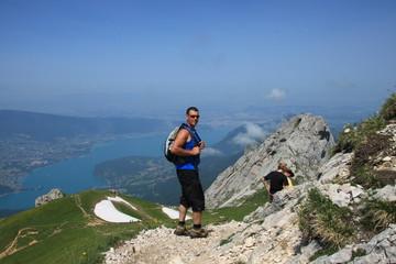 Le lac d'Annecy, depuis la Tournette