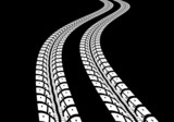 Fototapety Tire tracks
