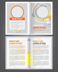 Vector empty bifold brochure design print template