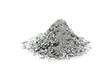 a handful of silver powder on a white background - 77164945