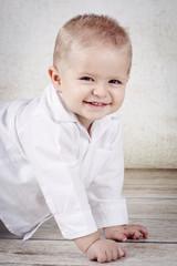 Funny little baby boy