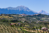 view of ancient towns in Abruzzo, Italy