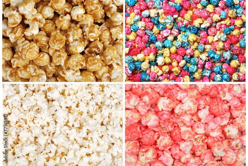 Fotobehang Snoepjes Assorted popcorn