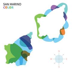 Abstract vector color map of San Marino