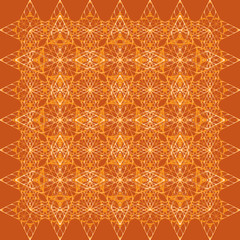 geometric ornament from orange diamonds