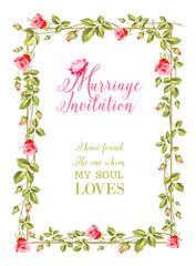 Marriage invitation.